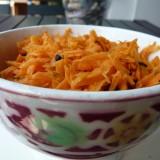 Ensalada de zanahoria con curry y alga dulse