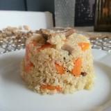 Quinoa con zanahoria y setas