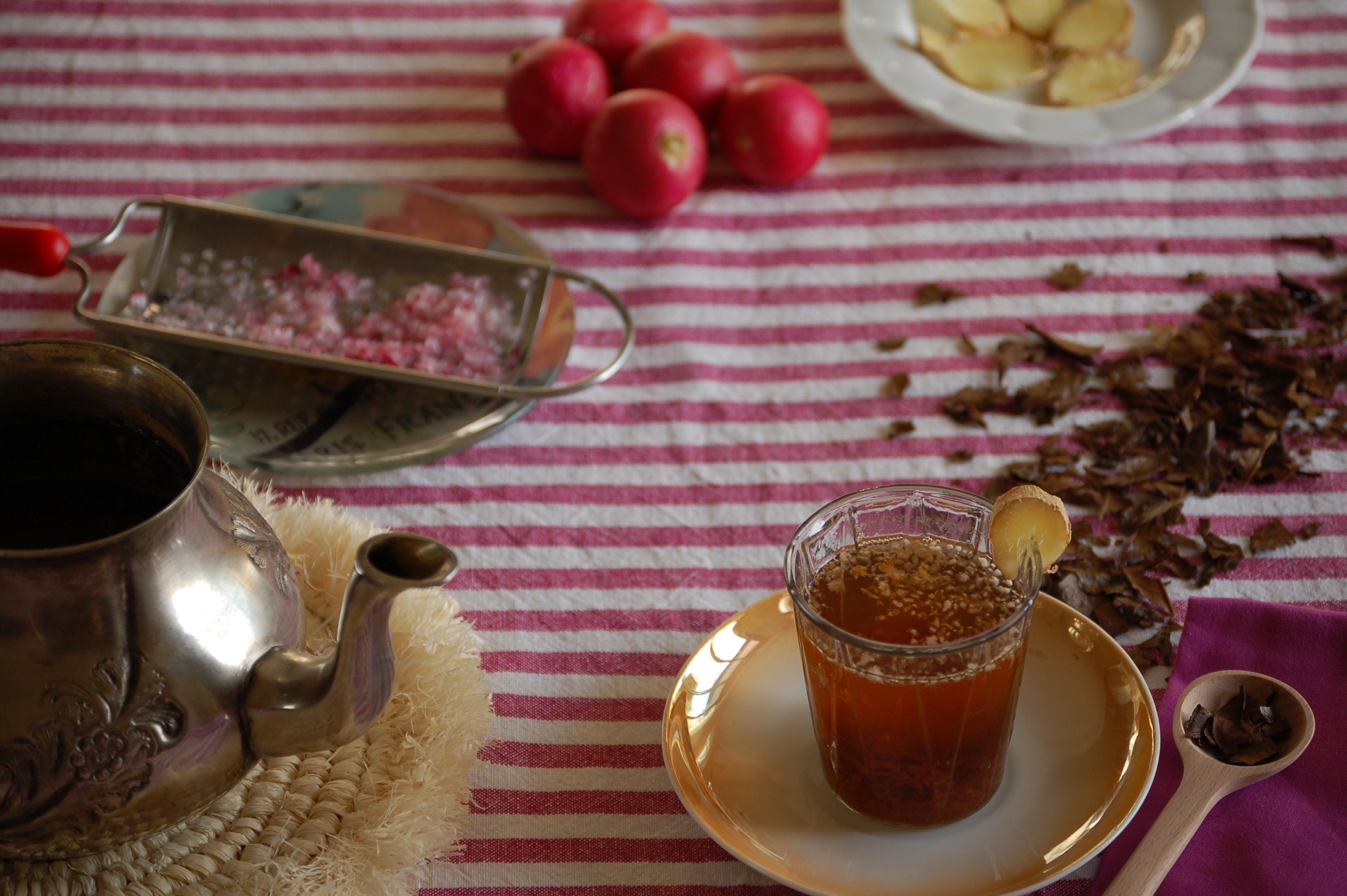 La mesa lista para el té