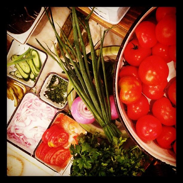 Verduras y más verduras en Miznon