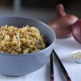 Quinoa con verduras y algas