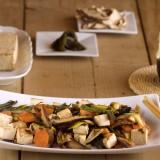 Salteado de puerros y tofu